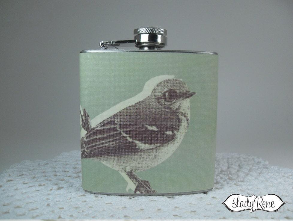 6oz Hip Flask - Bird Flask - Liquor Flask - Sparrow Accessories