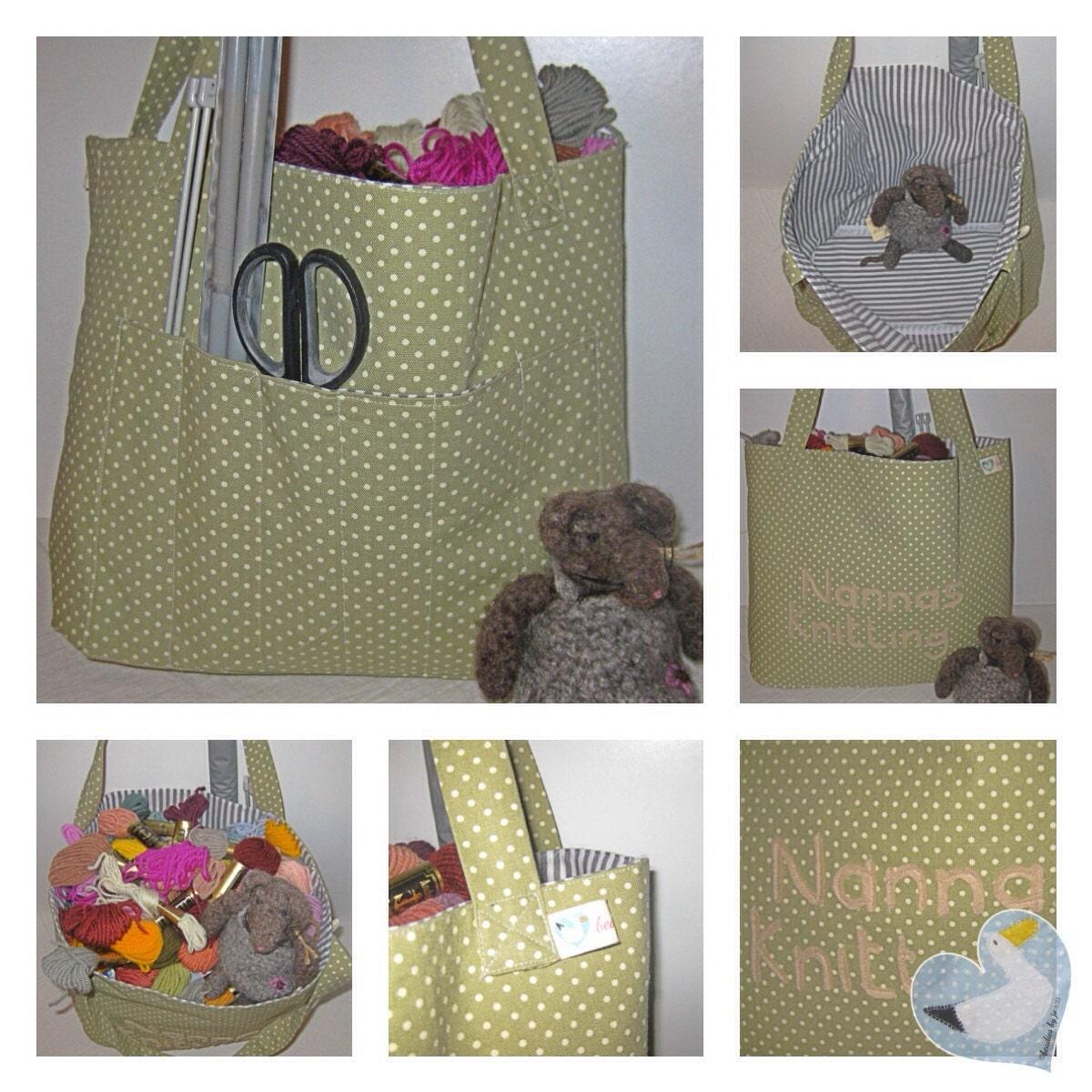 Knitting  Bag Sewing Bag Shopping Bag Pic Nic Bag Baby Bag Dog Bag