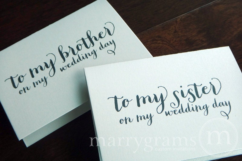 ... Groom CardsBrother-in-Law or Sister-in-Law Wedding Note (Set of 2