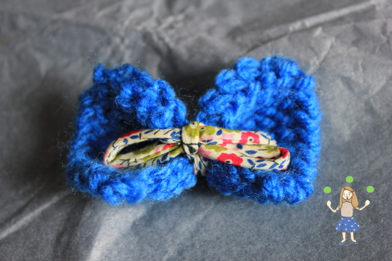 Broche noeud laine- Petite