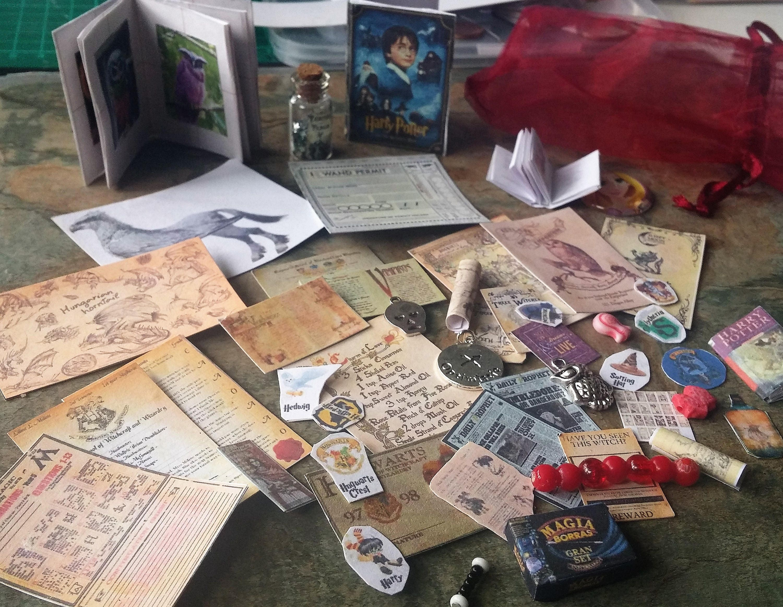Harry Potter Miniature Owl Books Spell Books Harry Potter CardsSpellsPostersSlitheringHufflepuffGryffindorRavenclawHogwarts Maps