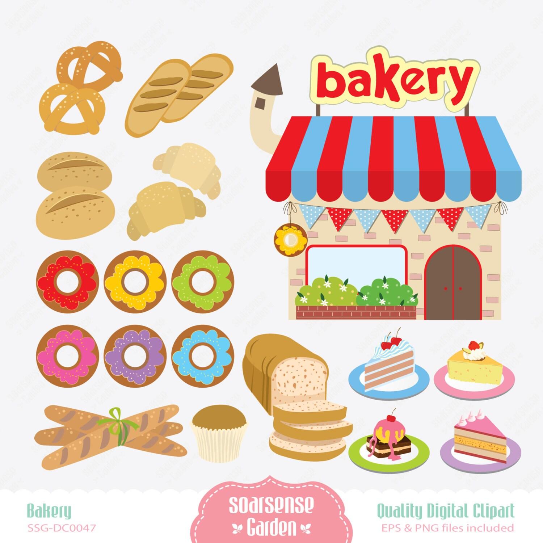 Clip Art Bakery Cake : Bakery Digital Clipart Breads Clip Art Cakes Clip Art by ...