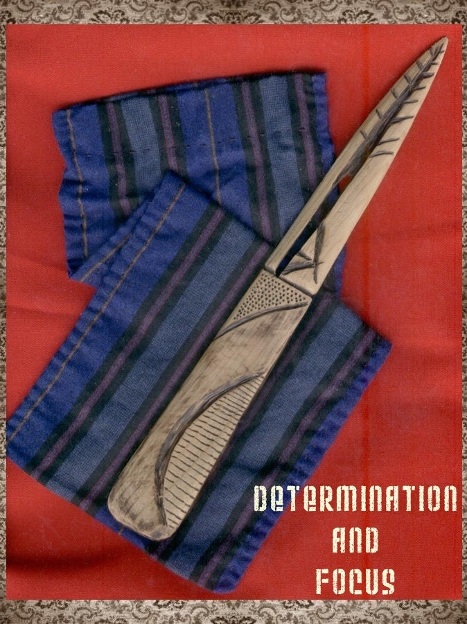 Determination and Focus Cedar Wood Athame OOAK