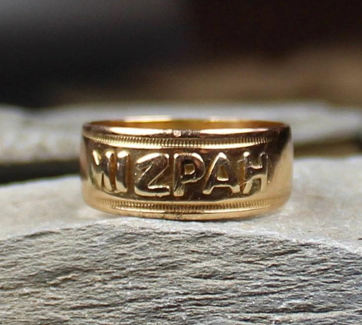 Antique Victorian 18ct Gold MIZPAH Ring