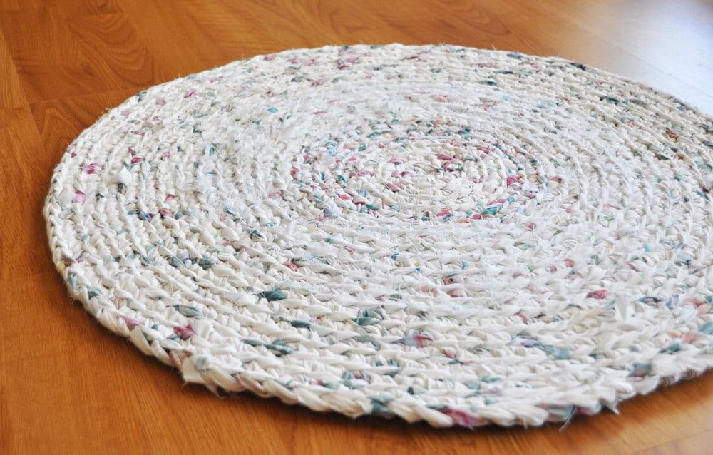 Simple Crochet Bathroom Rug Bumpy Bath Mat Kitchen Rug Teal Citron Taupe