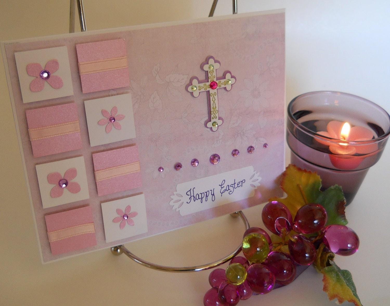 Pastel Pink Purple Easter Card