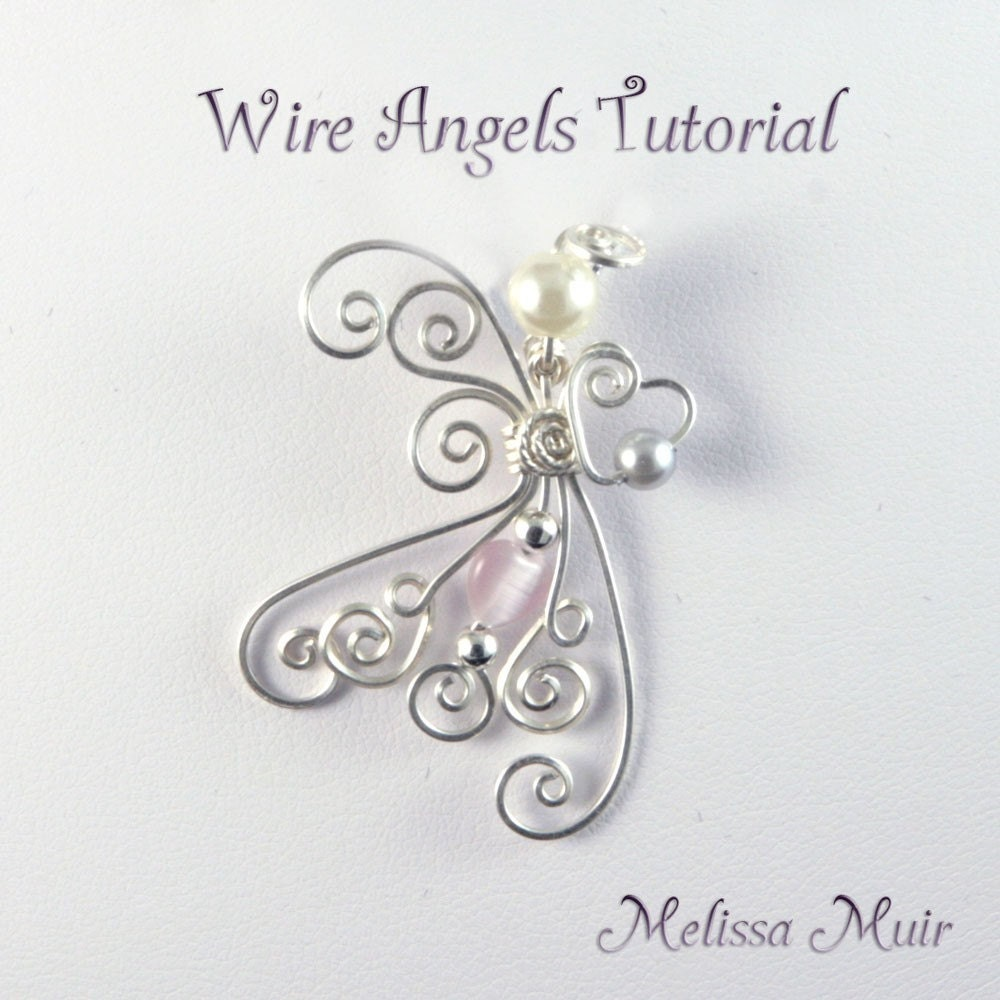 Wire Angel Pendant/BroochTutorial by kcjewelbox on Etsy