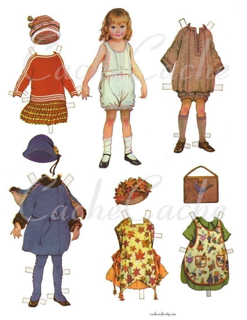 Paper Doll 2 -- Digital Collage Sheet by CacheCache - cachecache