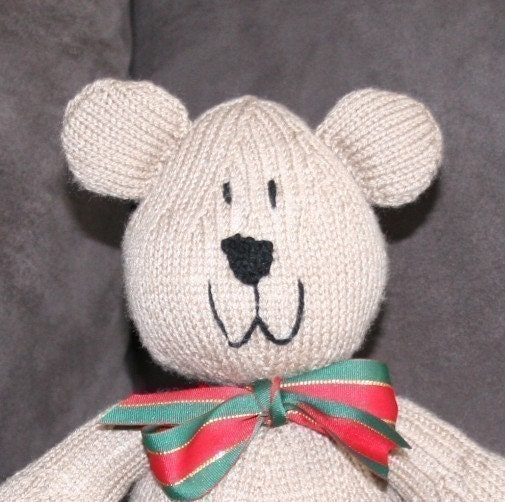 Sam Bear Teddy Bear pattern PDF KNITTING by kooklacreations