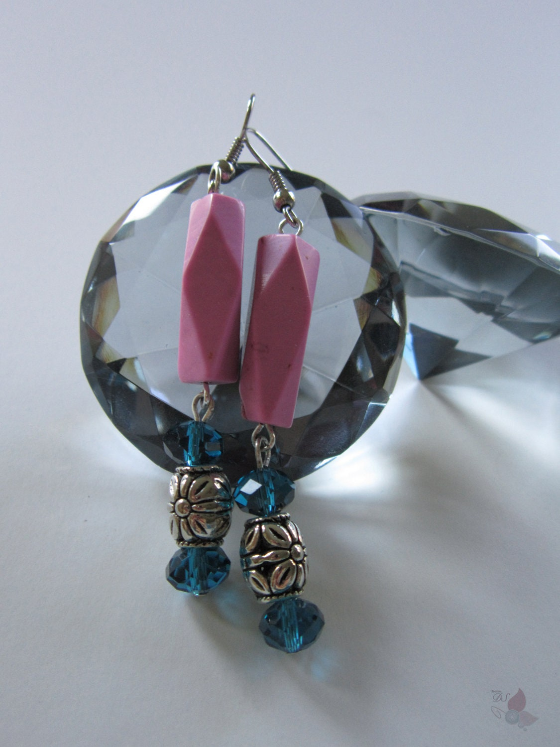 Chalk Pink Turquoise Earrings