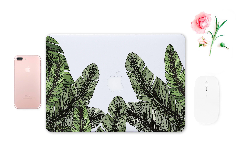 Green Leaves MacBook 12 Skin Keyboard Sticker MacBook Pro 15 2016 Skins Floral Laptop Decal MacBook Retina 13 Sleeve MacBook Air ESD032