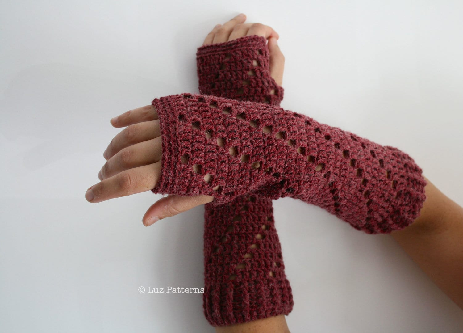 Crochet Patterns Arm Warmers : Crochet patterns girl and women arm warmer pattern by LuzPatterns