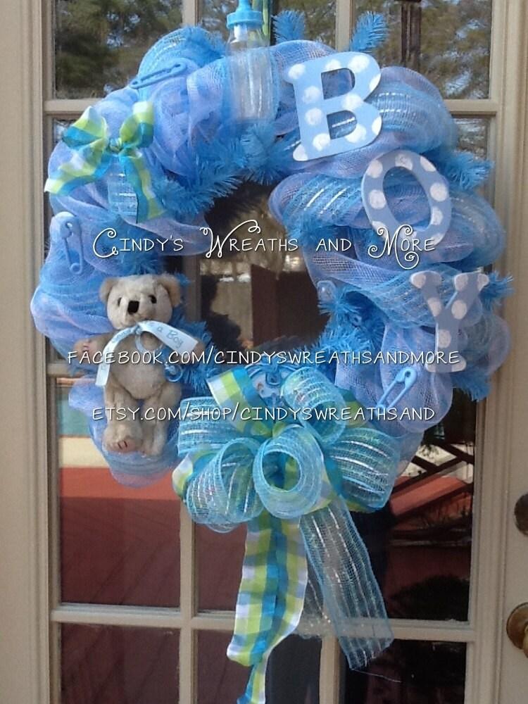 baby boy wreath nursery wreath shower gift baby wreath boy hand