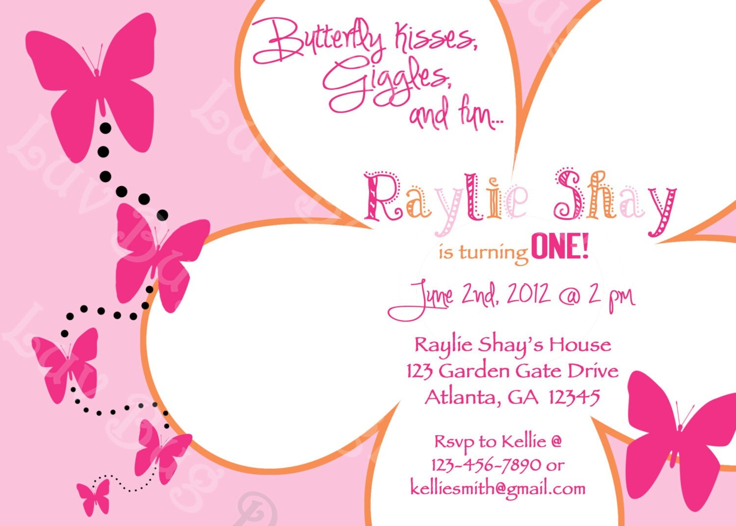 Butterfly Birthday Invitation Templates Free - Birthday invitation for girl template