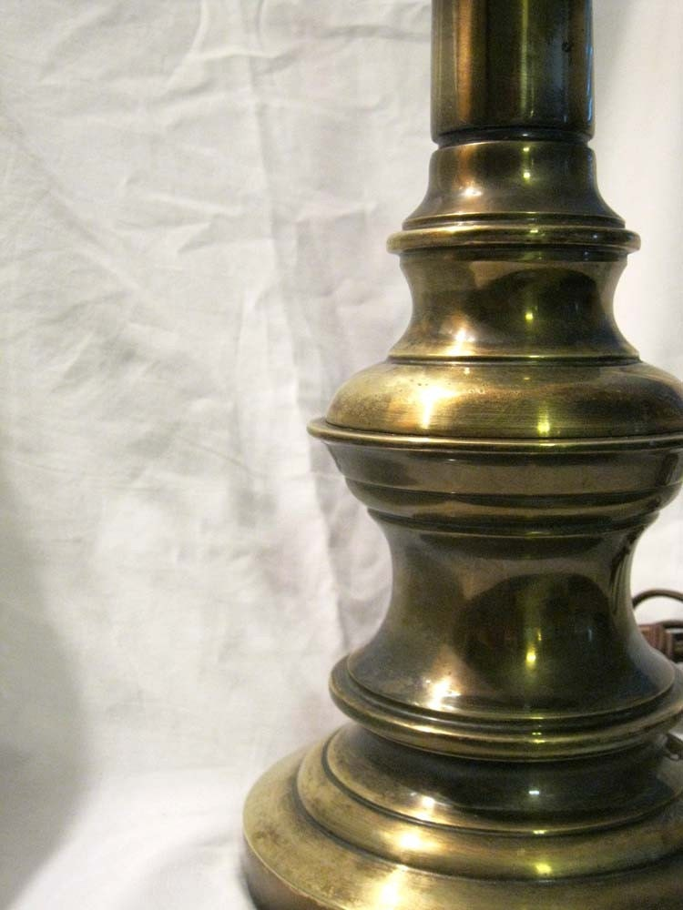 Sale Vintage Brass Stiffel Lamp Heavyweight By Theartfloozy