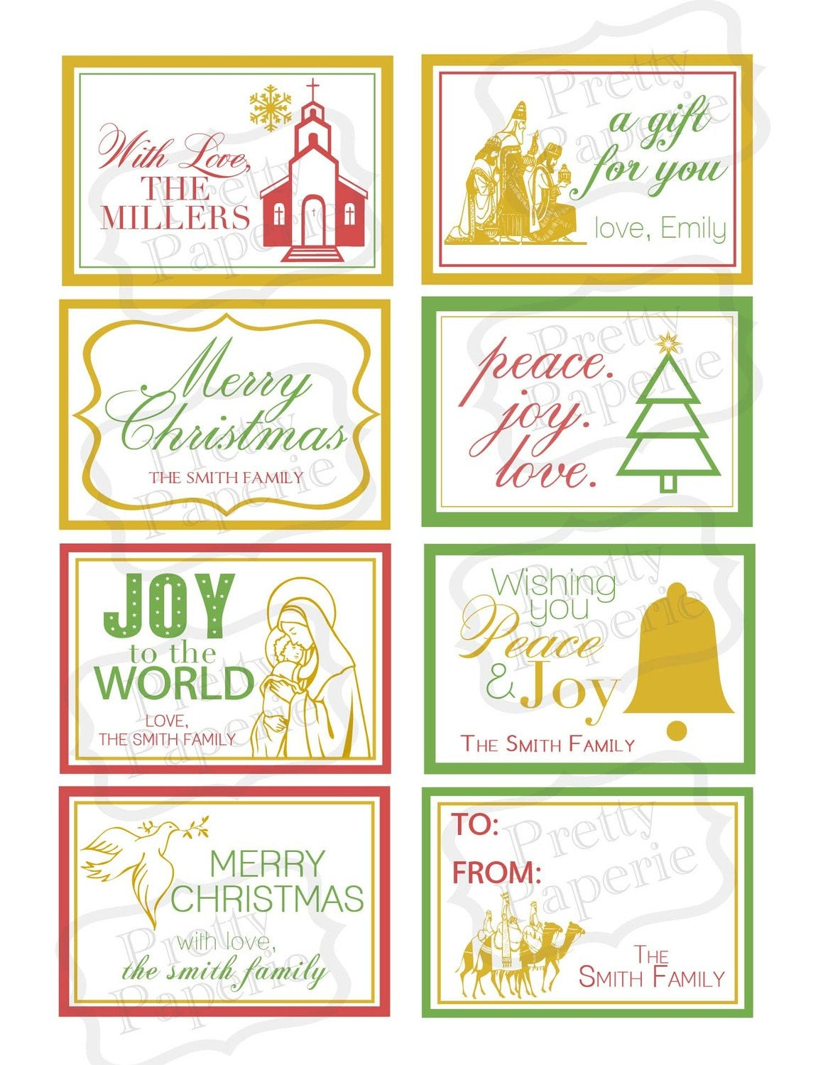 Items similar to Personalized CHRISTMAS 'Christ centered' Gift Tag ...