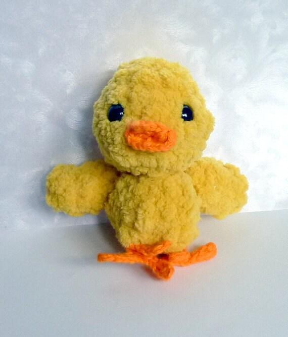 Amigurumi Baby Chicks : Items similar to Crochet amigurumi Chenille yellow yarn ...