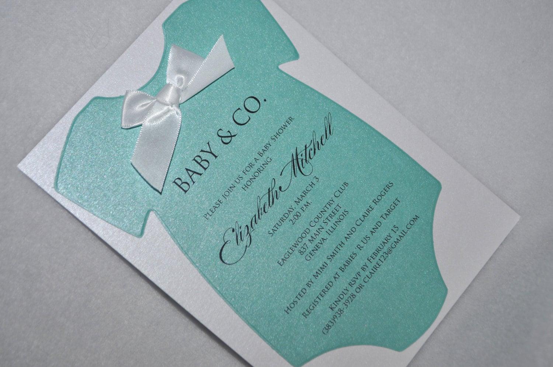 Tiffany Blue Baby Shower Invites as perfect invitation design