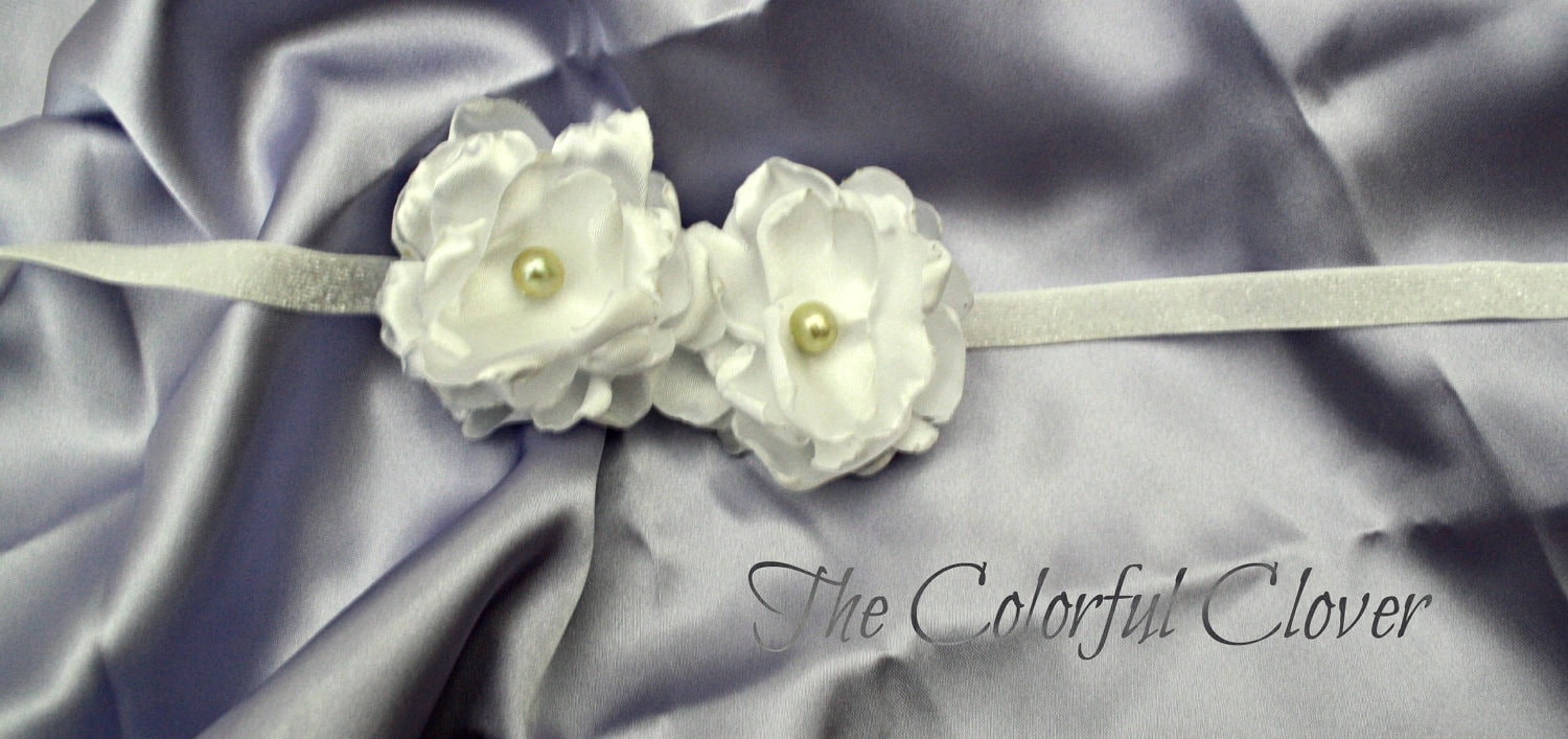 Baptism Headband. Fresh Water Pearl. Flower Girl headband. Baby Headband. Baby headband. Photo prop. Hair Acessory.