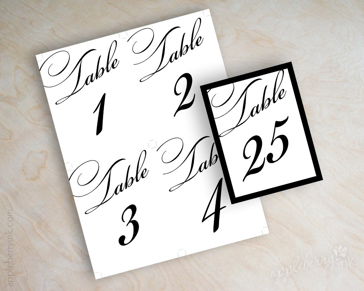Bright image with regard to diy printable table numbers