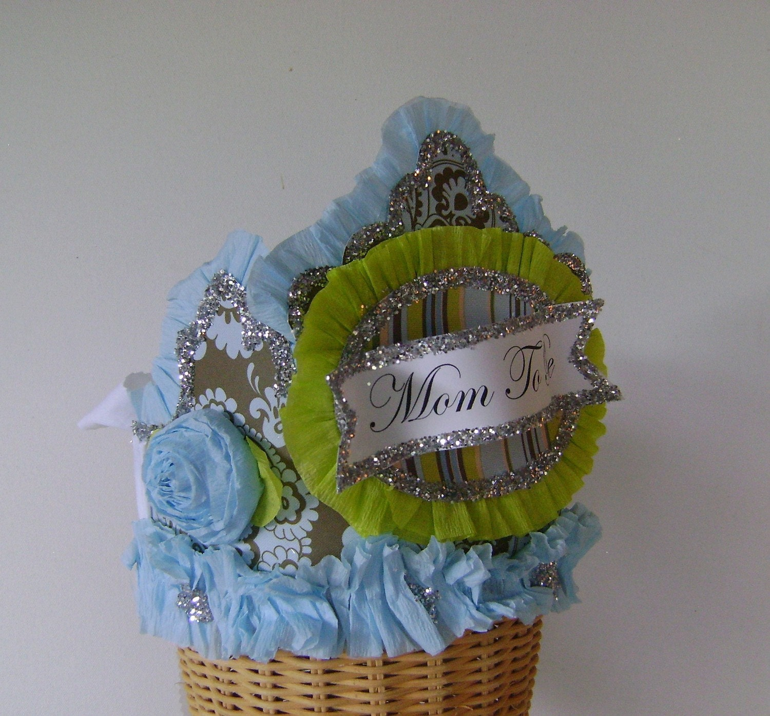 mom to be baby shower crown hat by glamhatter on etsy