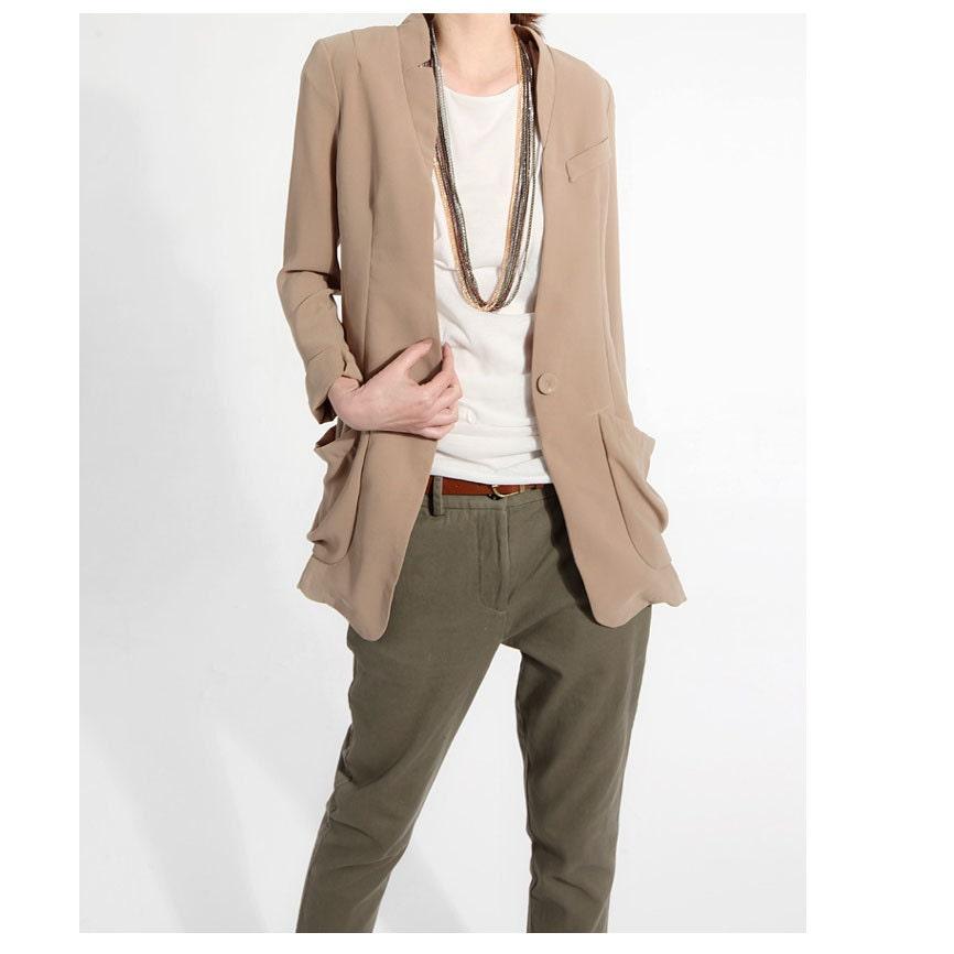 Ethereal beige coat J002 - JulyS