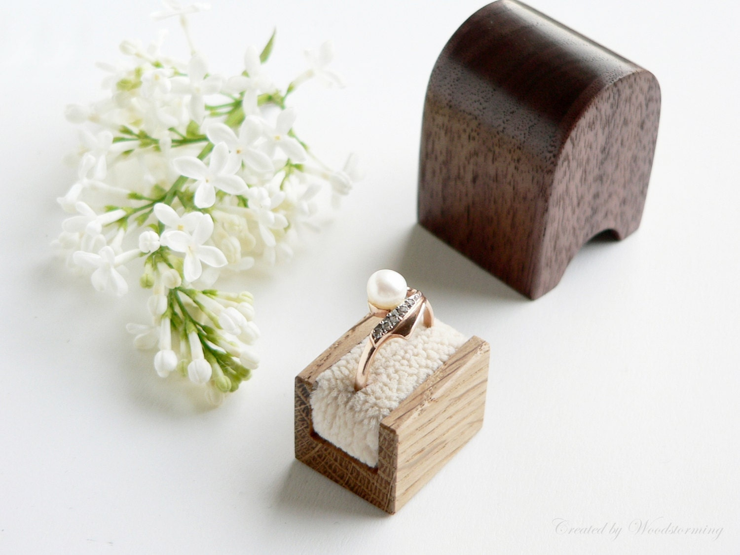 engagement ring box handmade original by woodstorming on etsy
