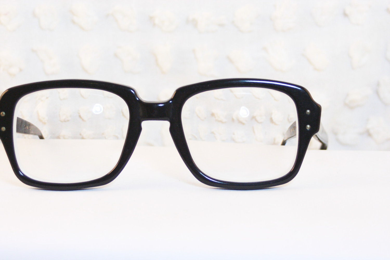 Eyeglass Frames For Military : Black Military Horn Rim 1990s Eyeglasses Army Navy by ...