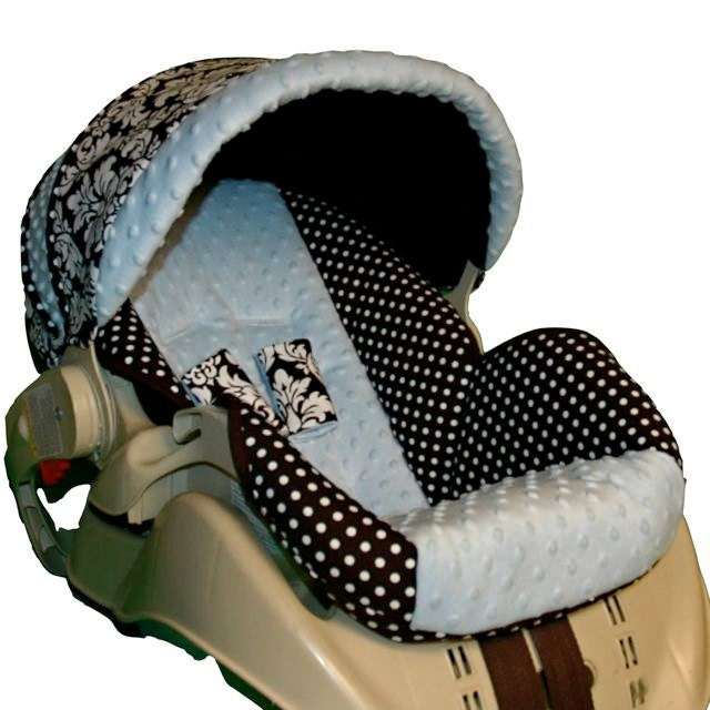 graco snugride custom infant car seat cover blue dot by bbsprouts. Black Bedroom Furniture Sets. Home Design Ideas
