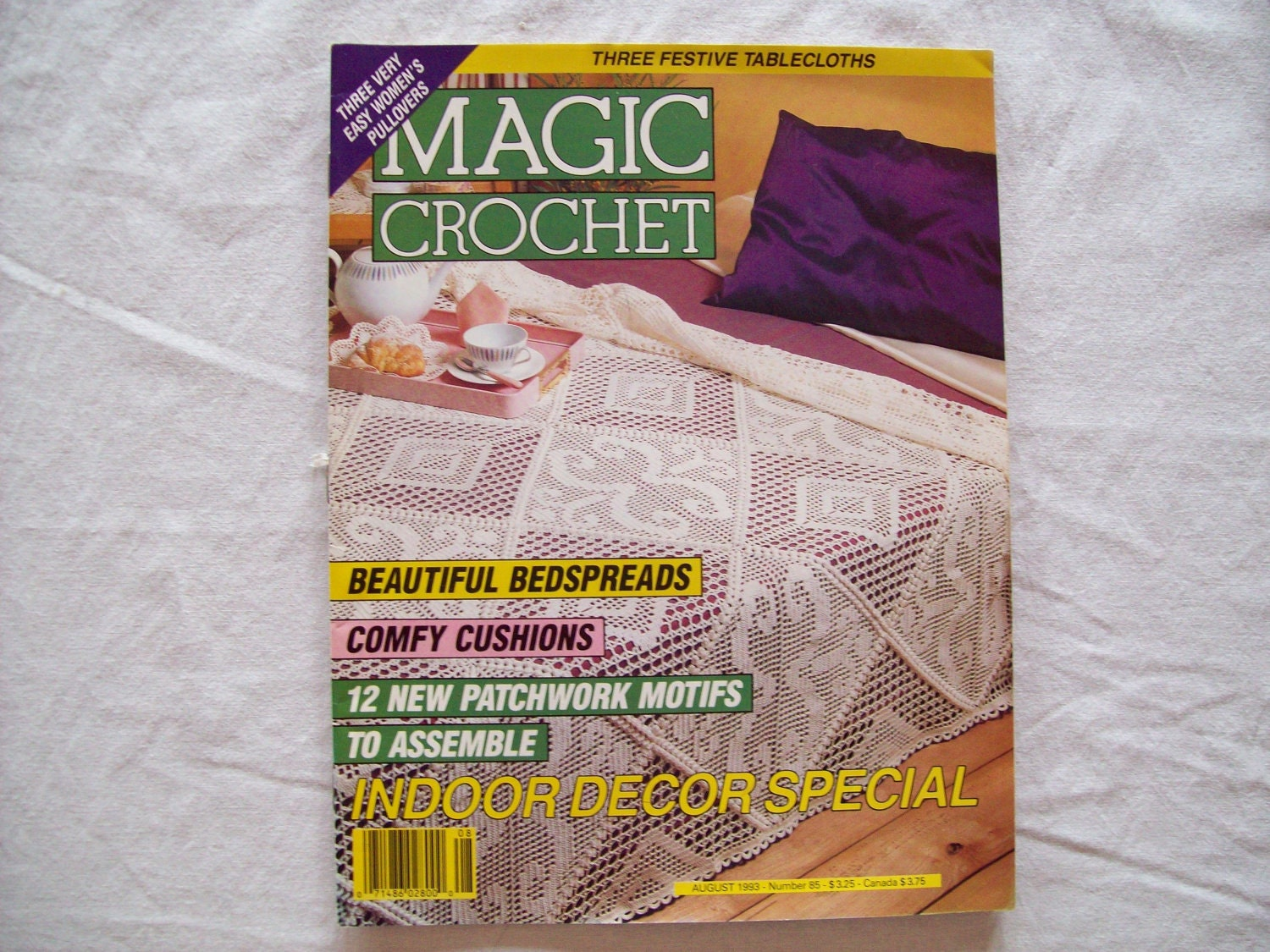 Magic Crochet Magazine : Magic Crochet Magazine August 1993 issue 85 by CozyHomeCrochet
