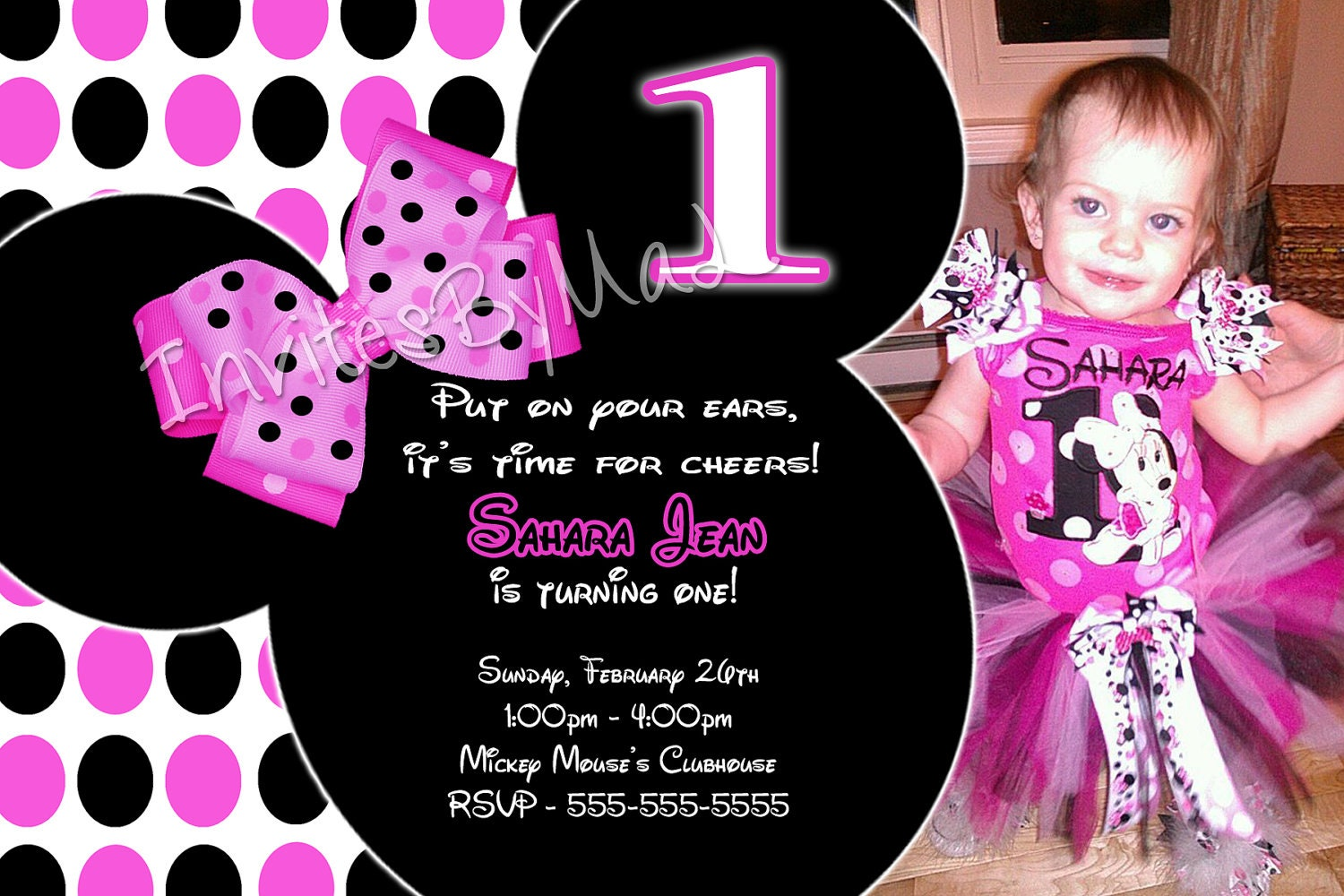 First Bday Invites as beautiful invitations example
