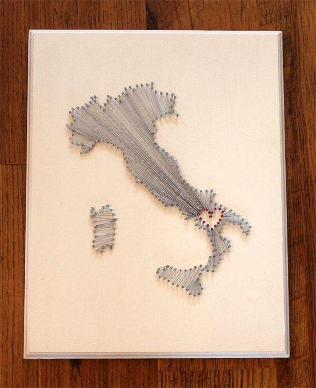 Italy Love String Art- Oliveto Lucano