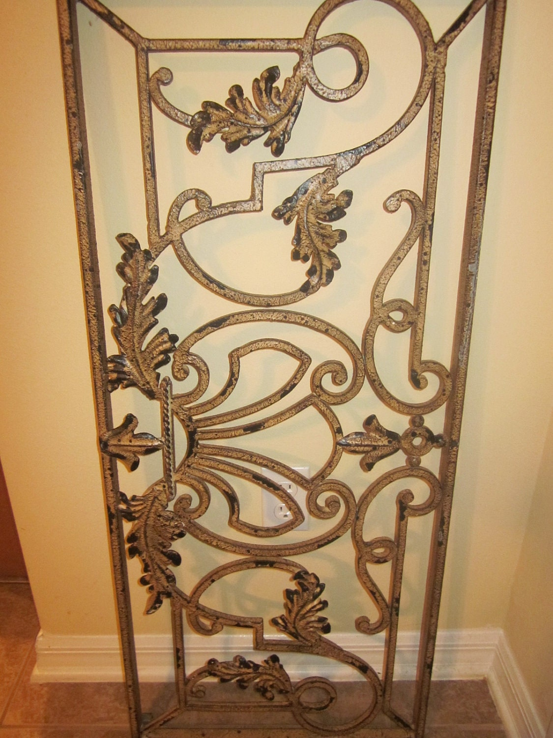 Decorative Wall Hanging Rods : Heavy rod iron scroll art wall decor moving by