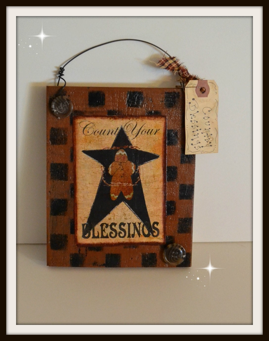 Items similar to primitive wooden country decorative sign for Handmade kitchen decoration