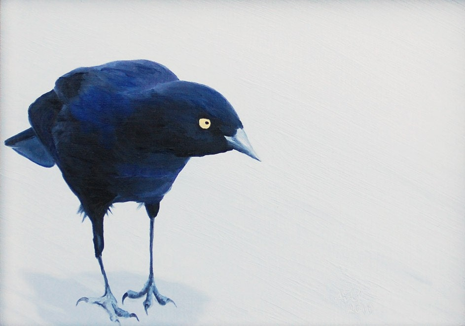 The Watcher II 5x7 Fine Art Print, Small Bird Art