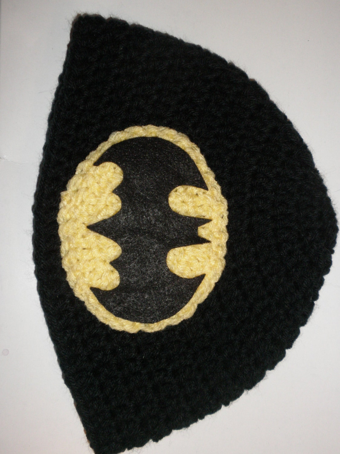 Free Crochet Pattern For Batman Hat : Batman inspired crochet hat baby newborn photo by ...