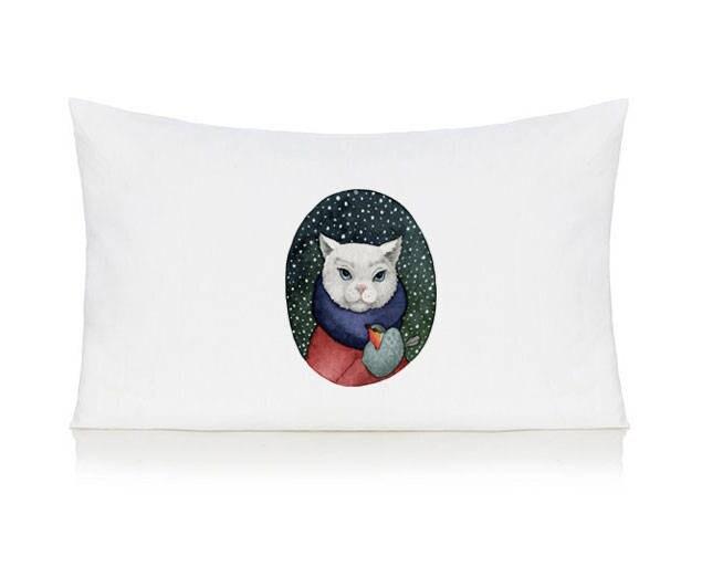 Cat pillow case cushion bedding pillow cover