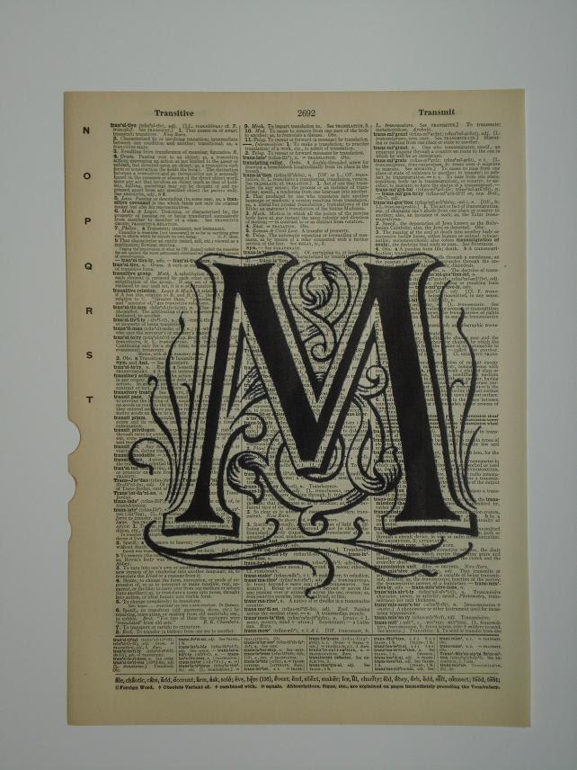 Vintage Letter M 22
