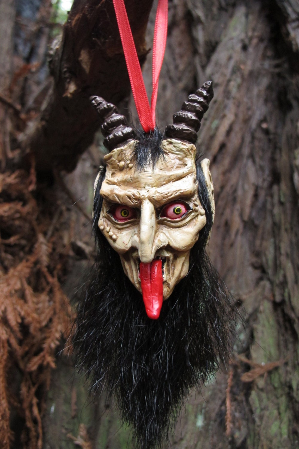 Items similar to Krampus Ornament, Pale on Etsy
