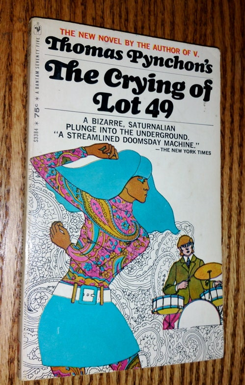 the crying of lot 49 John crace condenses the crying of lot 49 mrs oedipa maas came home from a tupperware party to find that she had been named executor, or she supposed executrix, of the estate of her former lover, pierce inverarity, a california property mogul who once lost $2m in his spare time.