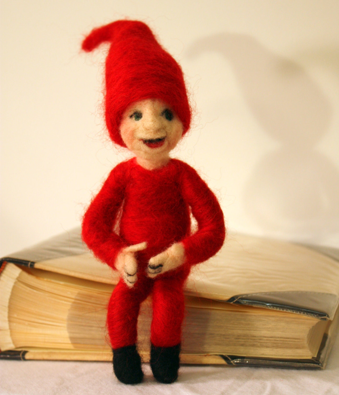 Christmas Elf, Needle Felted Elf, Sprite