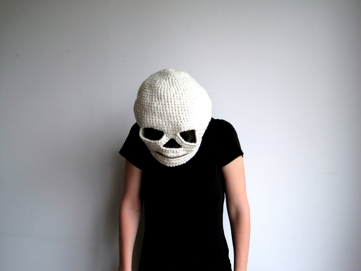 Halloween Mask - Crocheted Skull