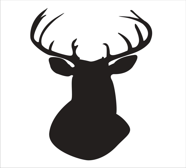 Reindeer+Stencil Items similar to STENCILS BUCK Reindeer Animal ...
