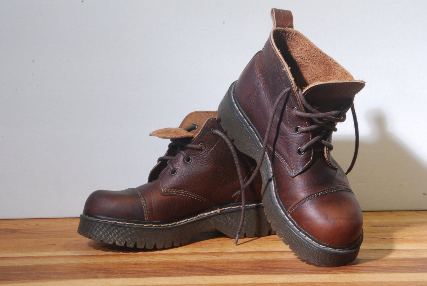 leather boots hiking made in spain s 6 5 by