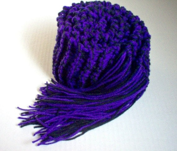 Knitting Pattern For Football Scarf : Hand Knit College Scarf Sports Football Kansas by StellasKnits