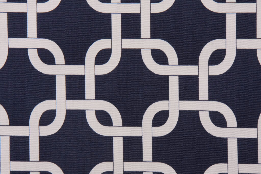 Navy Blue and White Geometric Lattice Pillow Cover - FREE SHIPPING