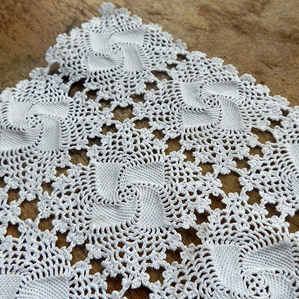doily knitted crochet for home decor by junquetreasures