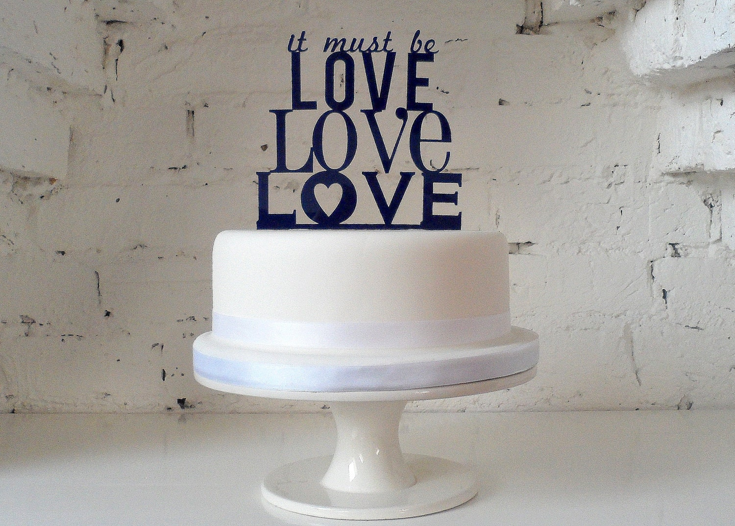 It Must Be Love, Love, Love' Wedding Cake Topper