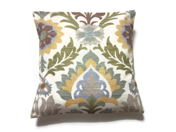 Decorative Pillow Cover Green Gold Brown by LynnesThisandThat