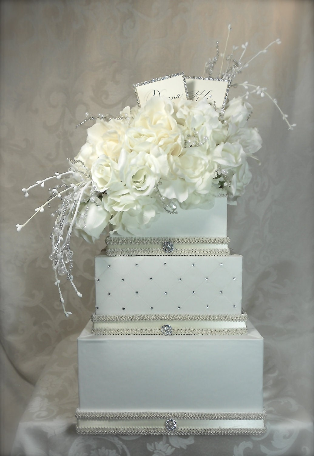 items similar to cream wedding card box reception card holder custom